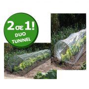 τούνελ καλλιέργειας λαχανικών (με φιλμ και δίχτυ)- DUO TUNNEL 2 in 1 - NORTENE