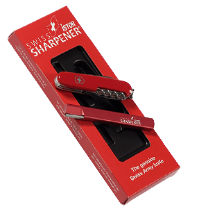 Swiss Istor Sharpener gift set - ακόνι Standard και ελβετικός σουγιάς - σετ δώρου Swiss Istor Sharpener gift set
