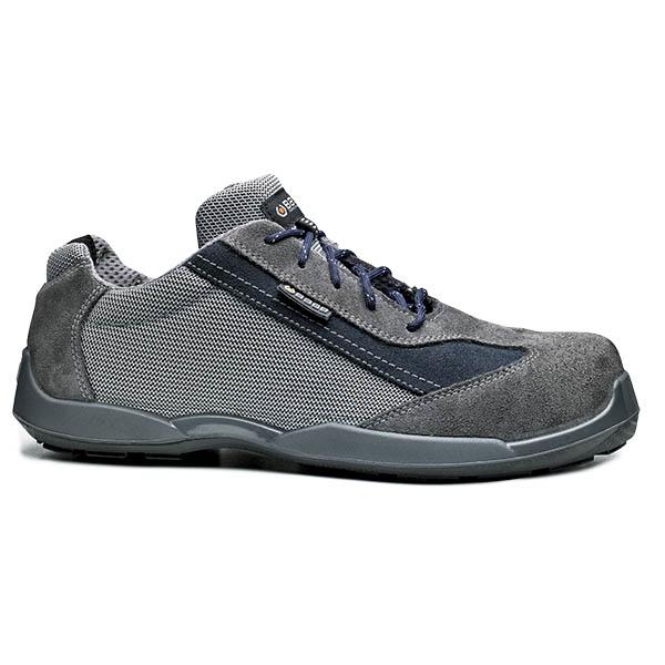 Δερμάτινα παπούτσια εργασίας SOCCER S1P SRC γκρι, BASE