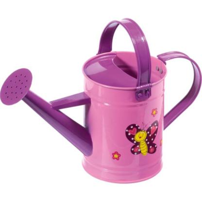 παιδικό μεταλλικό ποτιστήρι - ροζ-μωβ με πεταλούδα - stocker 4914