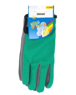 παιδικά γάντια κήπου - πράσινο-γκρι - stocker 22068