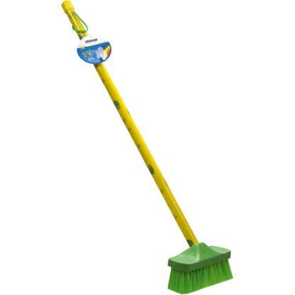παιδική σκούπα κήπου - πράσινο-κίτρινο- stocker 2306