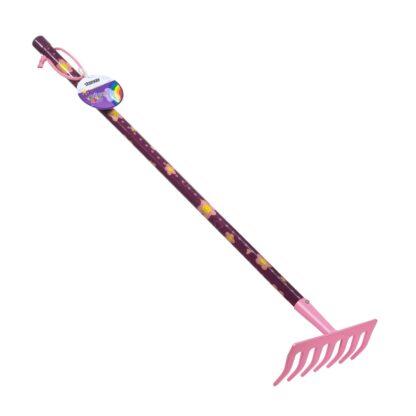 παιδική τσουγκράνα κηπουρικής - ροζ-μωβ - stocker 2323