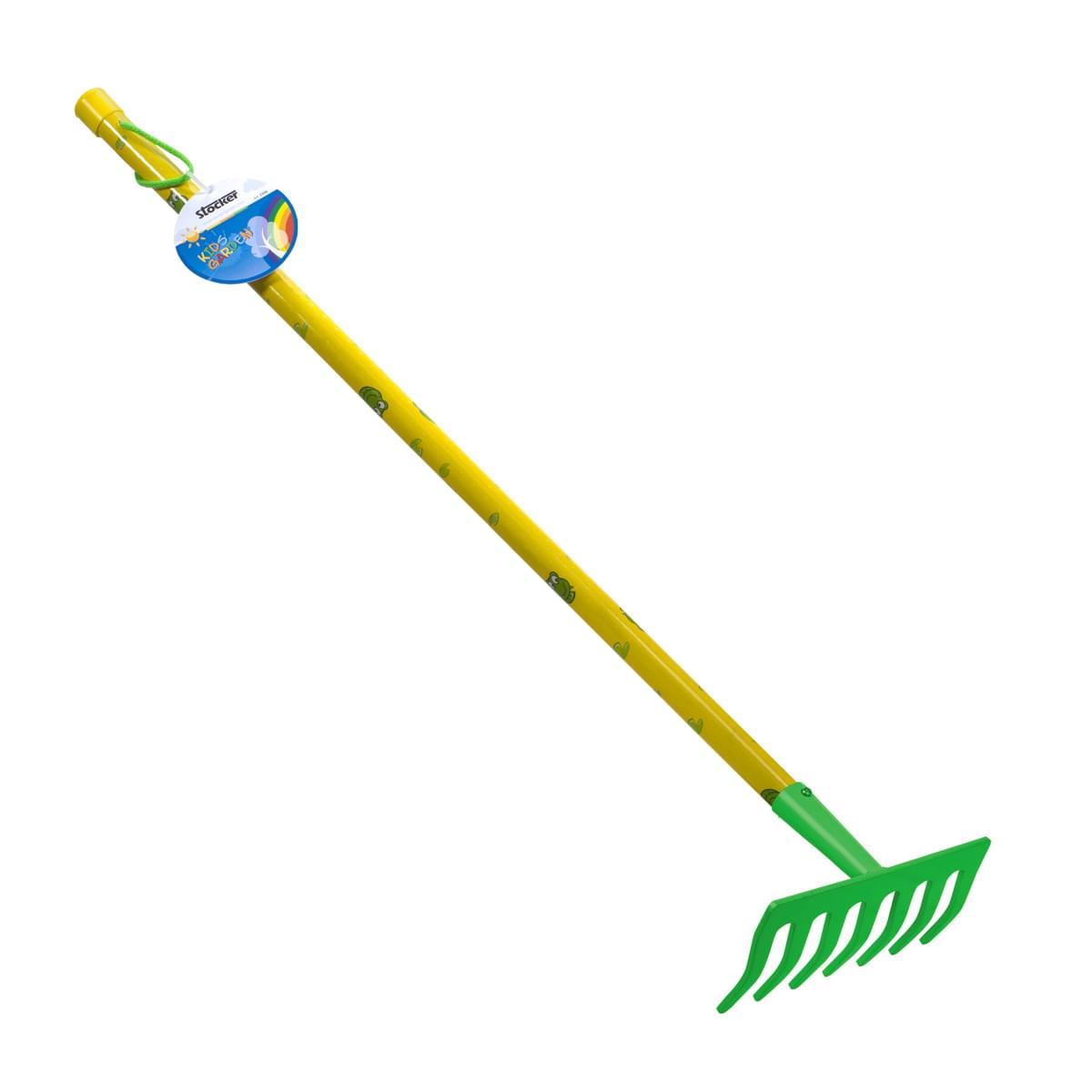 παιδική τσουγκράνα κηπουρικής - πράσινο-κίτρινο - stocker 2324