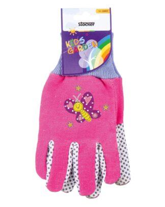 παιδικά γάντια κήπου - ροζ-μωβ με πεταλούδα - 22057