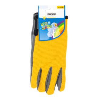 παιδικά γάντια κήπου - κίτρινο-γκρι - stocker 22069