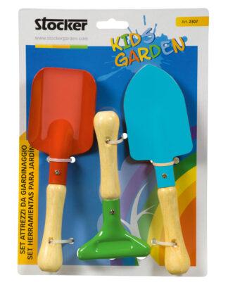 παιδικά εργαλεία κηπουρικής - σετ τριών(3) εργαλείων - stocker 2307