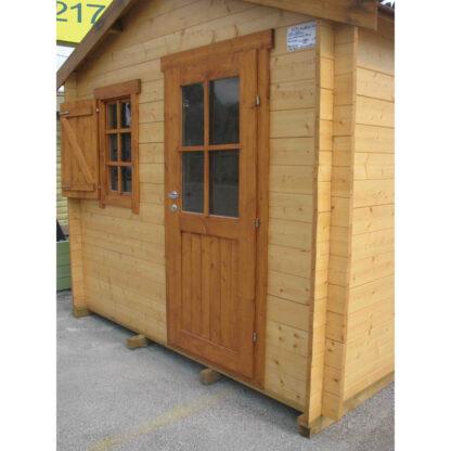 ξύλινα σπίτια κήπου κιτ με θηλυκωτούς δοκούς (έως 10τ.μ.)